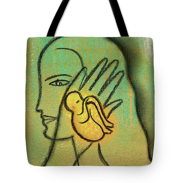 Tote Bag featuring the painting Pro Abortion Or Pro Choice? by Leon Zernitsky