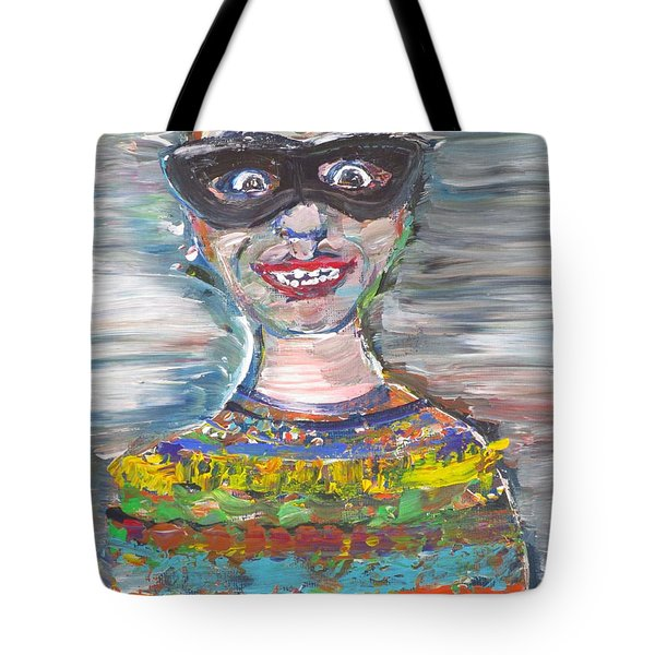 Tote Bag featuring the painting Probably Reincarnated by Fabrizio Cassetta