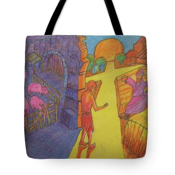 Prodigal Son Parable Painting By Bertram Poole Tote Bag by Thomas Bertram POOLE