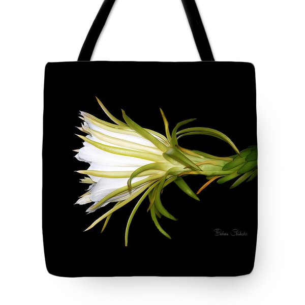 Profile Night Blooming Cereus Tote Bag by Barbara Chichester