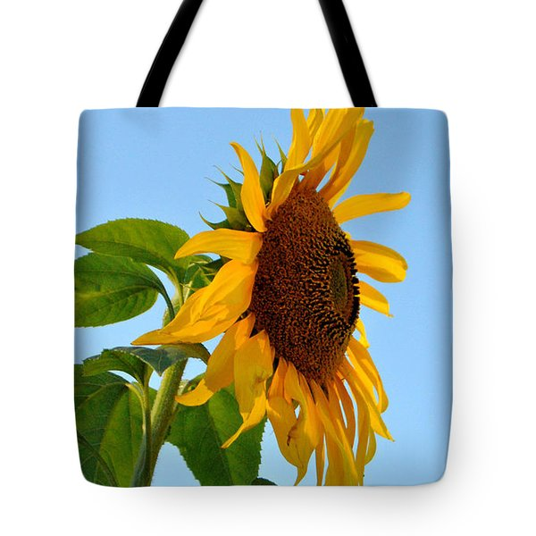 Profile Of A Sunflower Tote Bag by Kathleen Sartoris