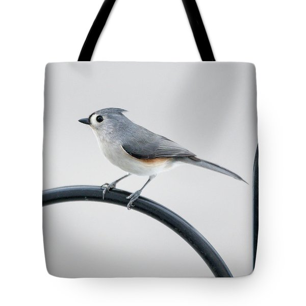 Tote Bag featuring the photograph Profile Of A Tufted Titmouse by Darryl Hendricks