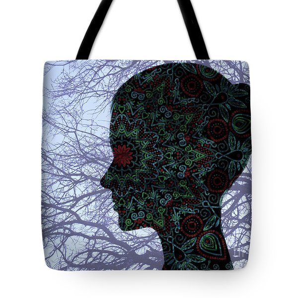 Profile Portrait Of Young Beautiful Woman. Tote Bag