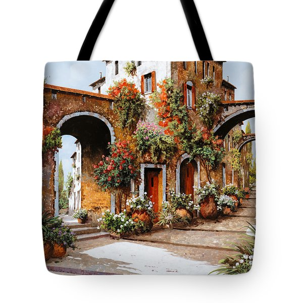 Tote Bag featuring the painting Profumi Di Paese by Guido Borelli