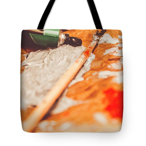 Progress Of Oil Painting Tote Bag