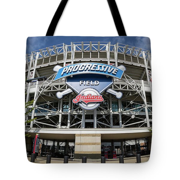 Tote Bag featuring the photograph Progressive Field by Dale Kincaid