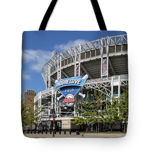 Tote Bag featuring the photograph Progressive Field In Cleveland Ohio by Dale Kincaid