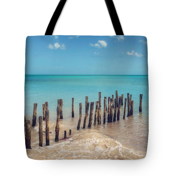 Tote Bag featuring the photograph Progresso Beach by Ray Devlin