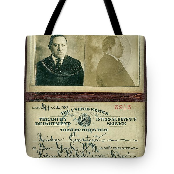 Prohibition Agent Id Tote Bag