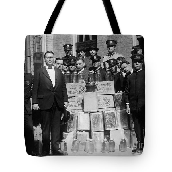 Prohibition Bust Tote Bag