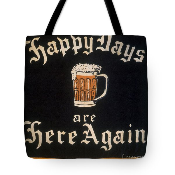 Prohibition: Repeal, C1933 Tote Bag by Granger
