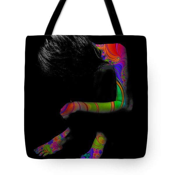 Projected Body Paint 2094915a Tote Bag
