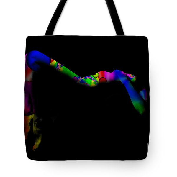Projected Body Paint 2094947a Tote Bag