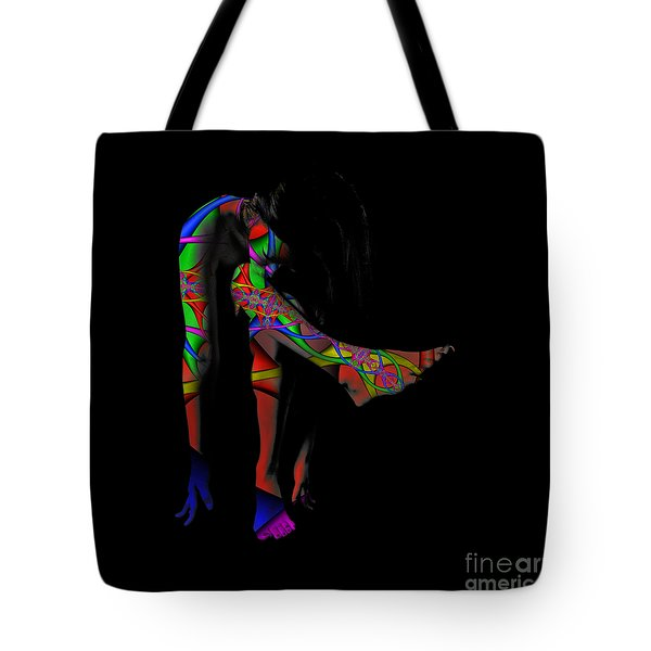 Projected Body Paint 2094973a Tote Bag