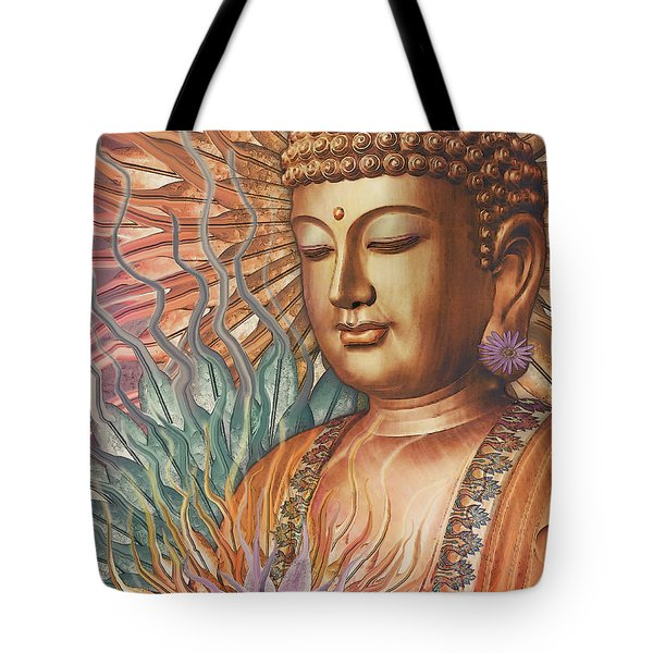 Proliferation Of Peace - Buddha Art By Christopher Beikmann Tote Bag