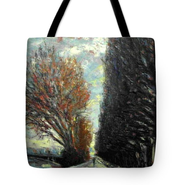 Tote Bag featuring the painting Promenade by Walter Casaravilla