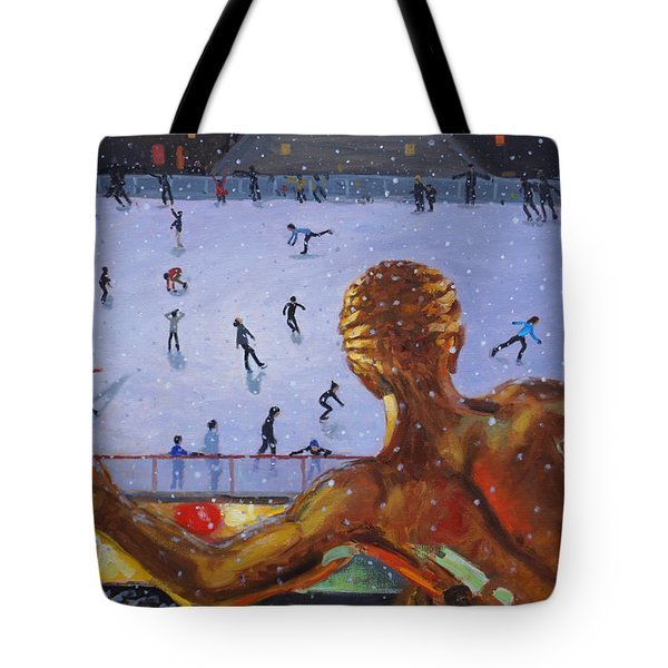 Prometheus, Rockefeller Ice Rink, New York Tote Bag