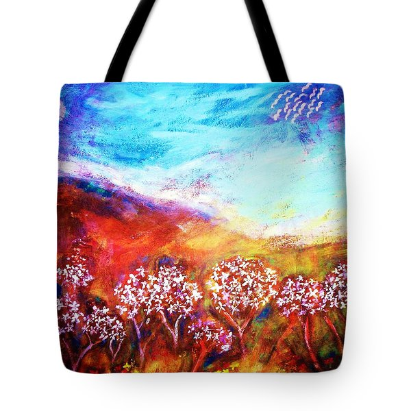 Tote Bag featuring the painting Promise by Winsome Gunning