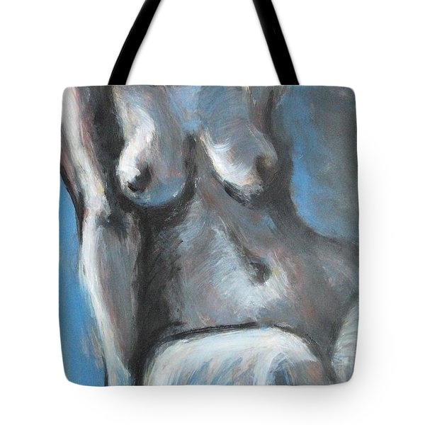 Propped Tote Bag by Carmen Tyrrell
