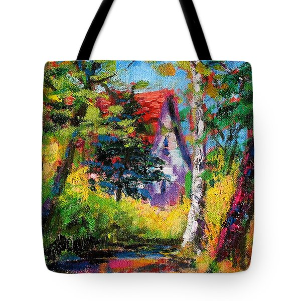 Tote Bag featuring the painting Prospect Driveway by Les Leffingwell