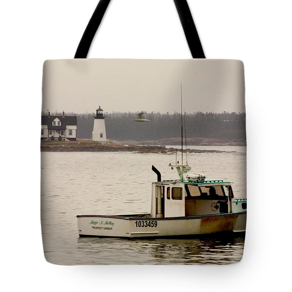 Prospect Harbor Lighthouse Tote Bag