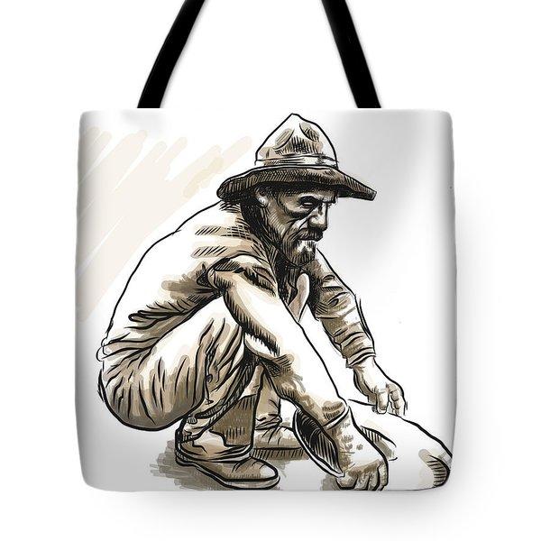 Tote Bag featuring the digital art Prospector by Antonio Romero