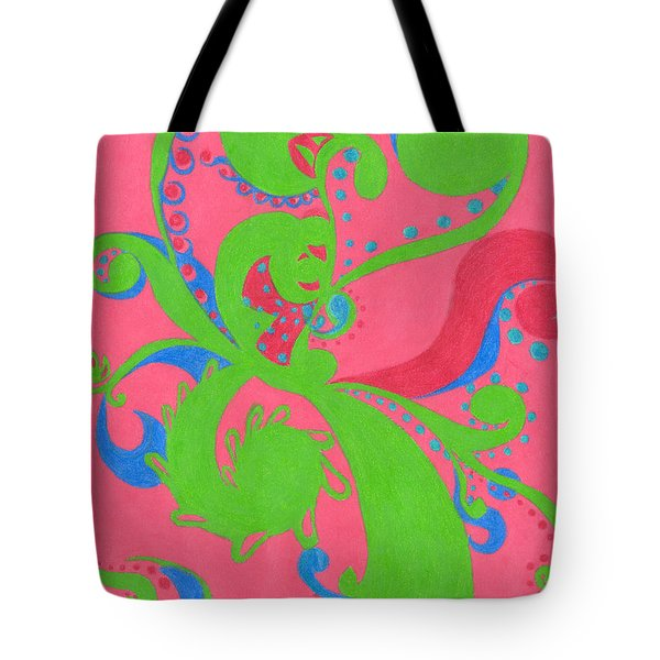 Tote Bag featuring the drawing Prosperity by Kim Sy Ok
