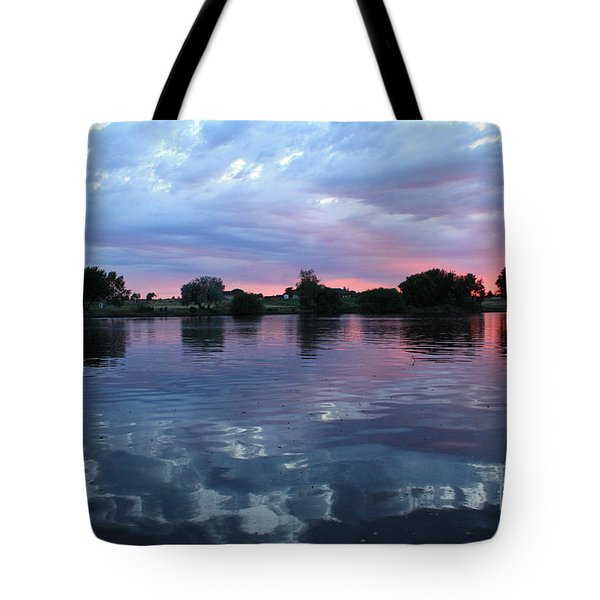 Prosser Pink Sunset 5 Tote Bag by Carol Groenen