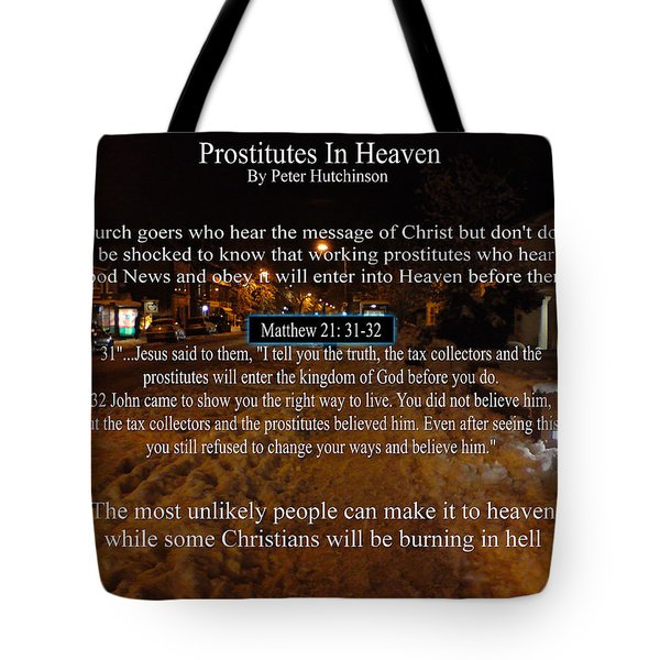 Prostitutes In Heaven Tote Bag