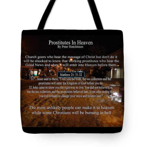 Prostitutes In Heaven Tote Bag