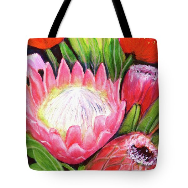 Protea Flowers #240 Tote Bag by Donald k Hall