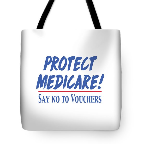 Tote Bag featuring the drawing Protect Medicare by Heidi Hermes