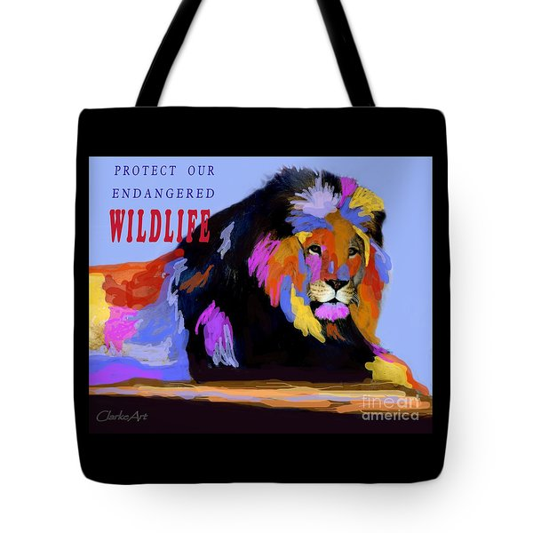 Protect Our Endangered Wildlife Tote Bag