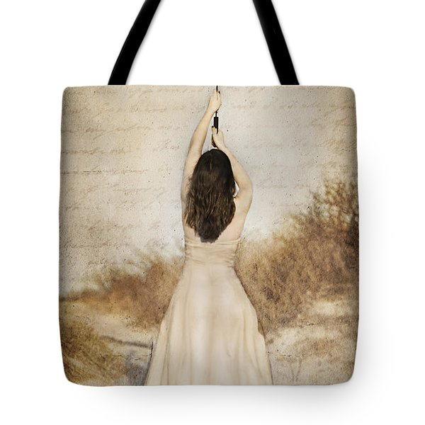 Protection Painted Lady Tote Bag