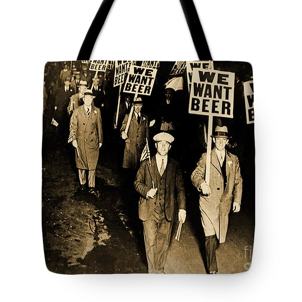 Protest Against Prohibition, New Jersey, 1931 Tote Bag