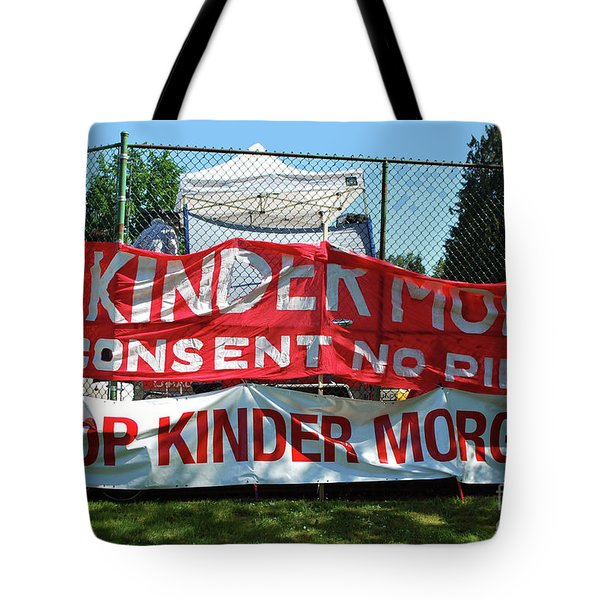 Tote Bag featuring the photograph Protest Signs by Bill Thomson