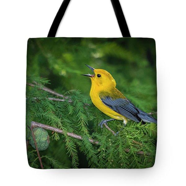 Prothonatory Warbler 9809 Tote Bag