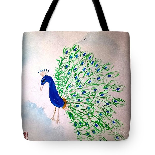 Proud As A Peacock Tote Bag