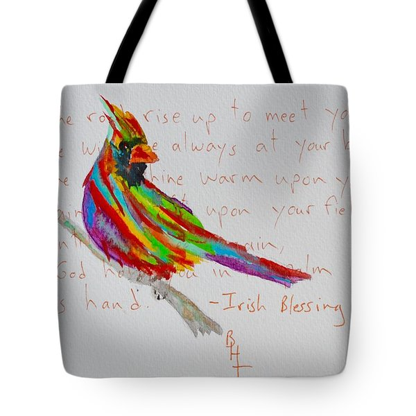 Proud Cardinal With Blessing Tote Bag