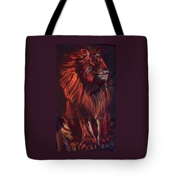 Tote Bag featuring the pastel Proud King by Ellen Canfield