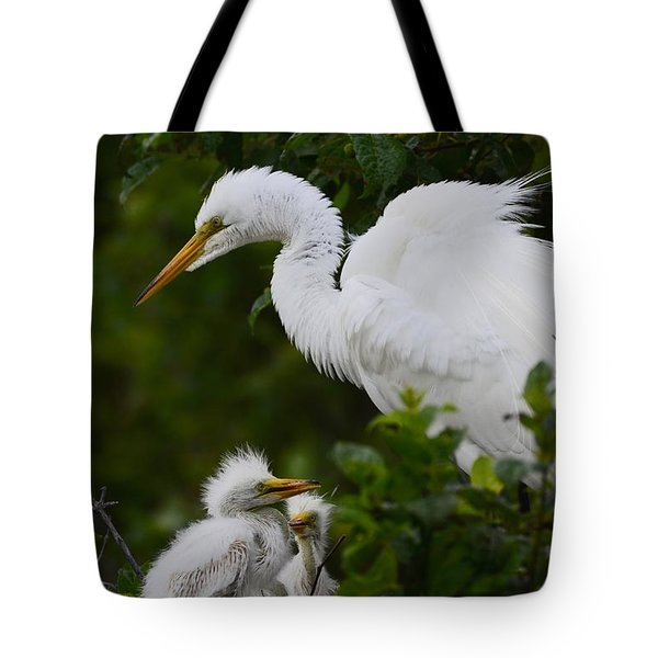 Tote Bag featuring the photograph Proud Mom  by Kathy Gibbons