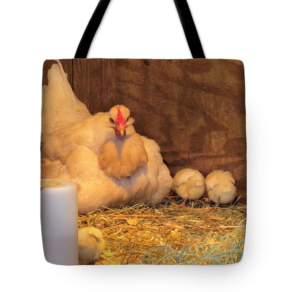 Tote Bag featuring the photograph Proud Mother Hen by Jeanette Oberholtzer
