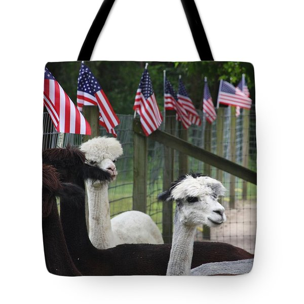 Proud To Be Americans Tote Bag by Vadim Levin