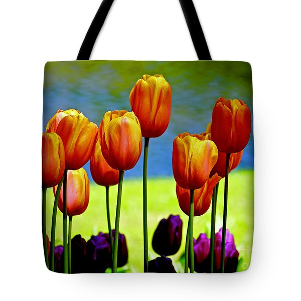 Proud Tulips Tote Bag
