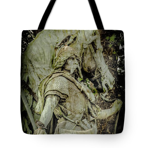 Paris, France - Proud Warrior And The Pigeon Tote Bag