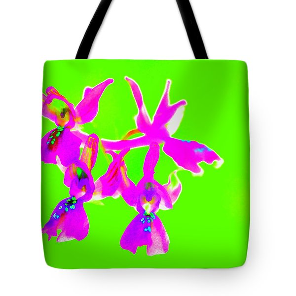 Green Provence Orchid  Tote Bag by Richard Patmore