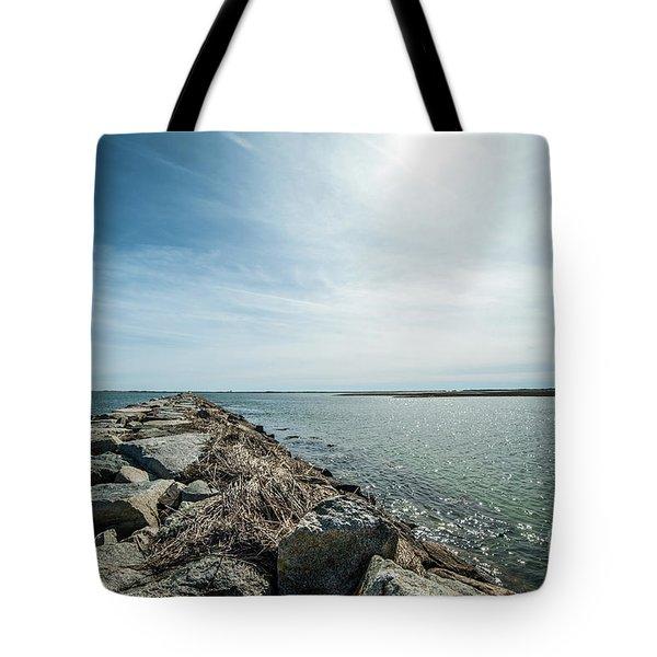 Provincetown Breakwater Tote Bag
