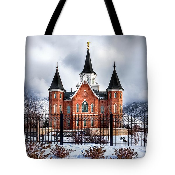 Provo City Center Temple Lds Large Canvas Art, Canvas Print, Large Art, Large Wall Decor, Home Decor Tote Bag by David Millenheft