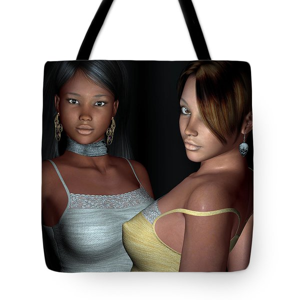 Provocative Flirt Close Up Tote Bag by Alexander Butler