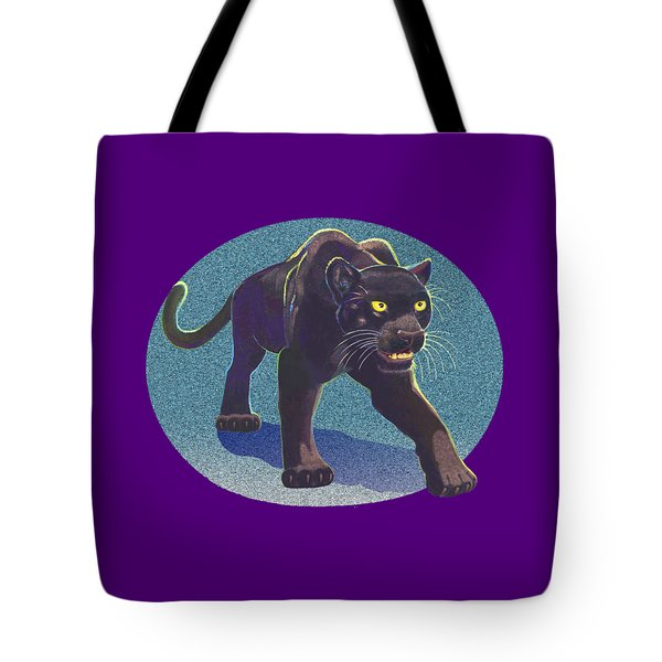 Tote Bag featuring the mixed media Prowl by J L Meadows